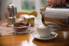 Wohnzimmer-Kaffegenuss